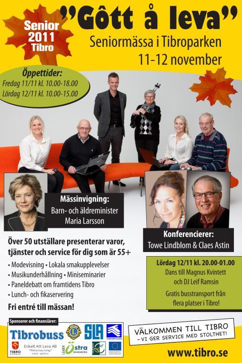Affisch - seniormässan i Tibro den 11-12 november 2011