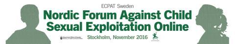 Pressinbjudan: Nordiskt Forum mot sexuell exploatering av barn på nätet