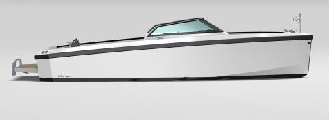 Världspremiär för Delta 26 på Scandinavian Boat Show. Design: Ted Mannerfeldt