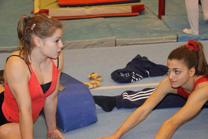 Veronica Wagner och EM-gymnasten Alexandra Olsson