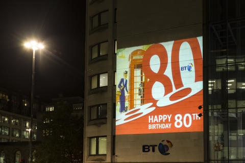 BT's classic British red phone box rings up 80 years