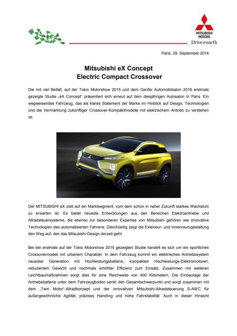 Mitsubishi eX Concept  Electric Compact Crossover