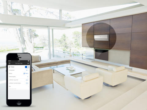 Verdens første integrerte varmepumpe for smarte hjem