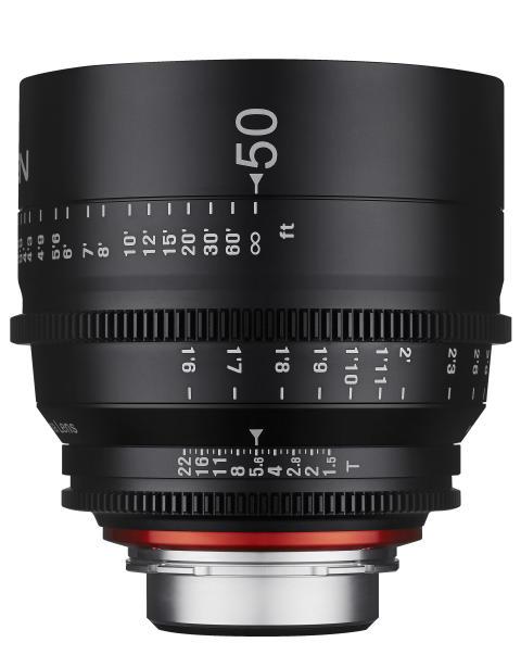 XEEN 50mm T1.5 fra siden 1