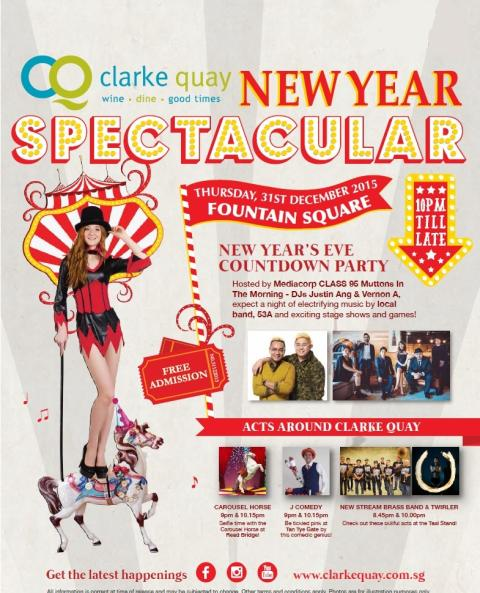 New Year Spectacular Countdown To 2016 at Clarke Quay!