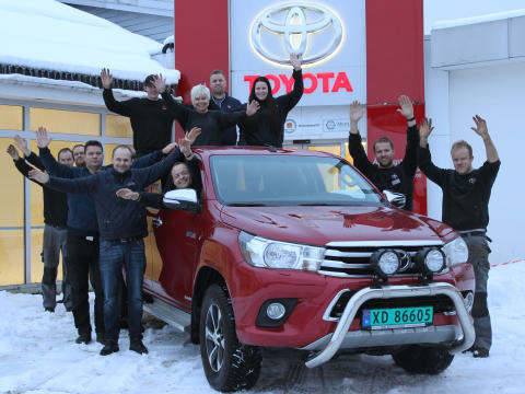 Toyota ble salgsvinneren i Steinkjer