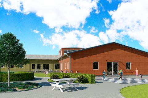 Första spadtag ny förskola vid Dansut i Gnesta