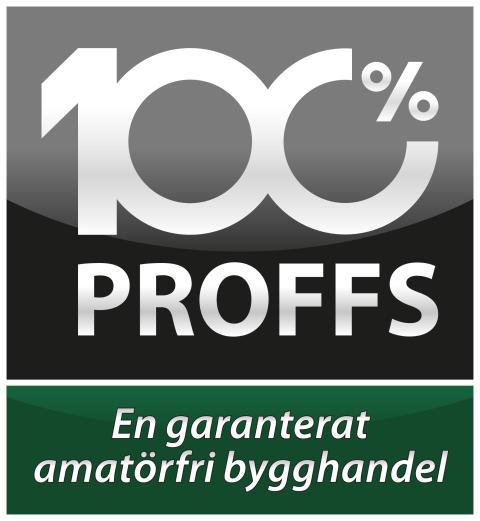 Proffs - Garanterat amatörfri bygghandel - Vit linje