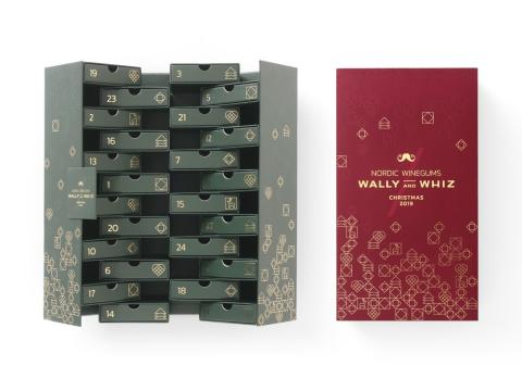 wally and whiz vingummi-kalender