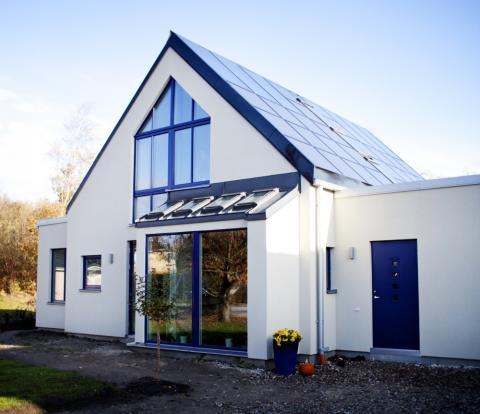 Solcellspaneler på Villa Åkarp
