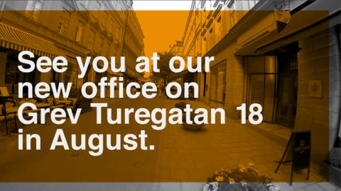 OPEN Communications has moved to Grev Turegatan 18 in Stureplan.  Come by for a cup of coffee.