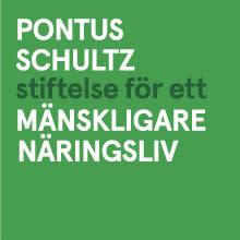 Logo Pontus Schultz stiftelse för ett mänskligare näringsliv