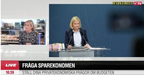 Höstbudgeten presenterades idag - vinnarna och förlorarna i Aftonbladet TV