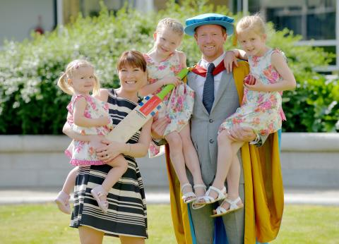 Northumbria University honours Paul Collingwood