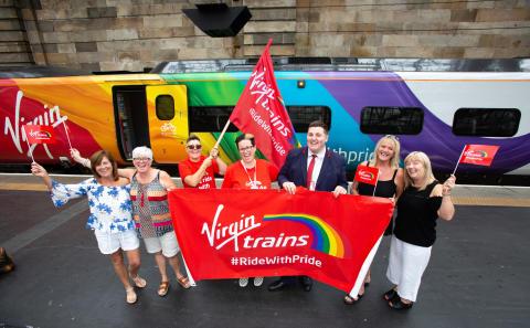 Virgin's Pride train rides into Glasgow for city's celebrations