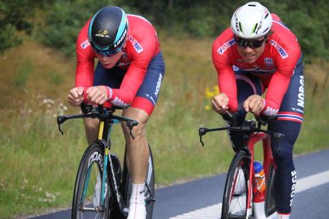 Edvlad og Truls under sykkel-EM 2017