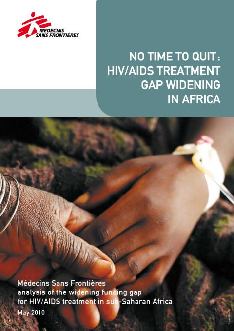 """Rapporten """"No time to quit: HIV/AIDS treatment gap widening in Africa"""""""