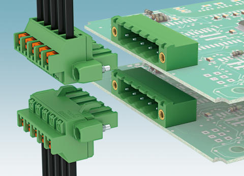 New vertical PCB connectors