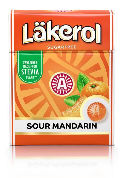 Byd velkommen til en ny Läker smag: Läkerol Sour Mandarin