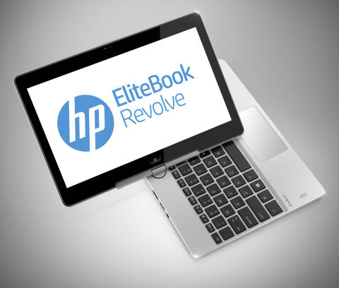 HP 810 EliteBook Revolve G2 vridd over tastatur med image