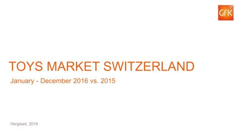 GfK-Charts Spielwarenmarkt 2016