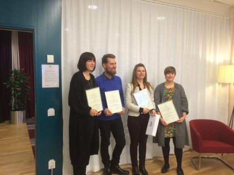 Nackademister vinner Åke Sahlin-stipendiumet 2015