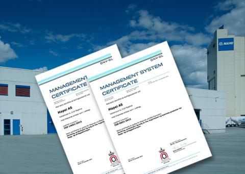 Mapei AS først ute med ISO 2015 i Norge