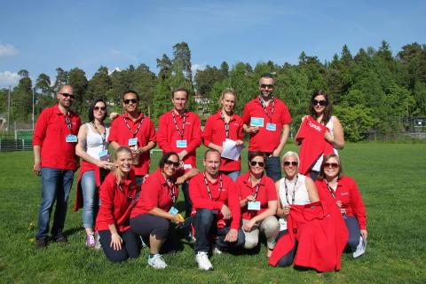 Scandic Hotels-ansatte inntok Fornebulandet