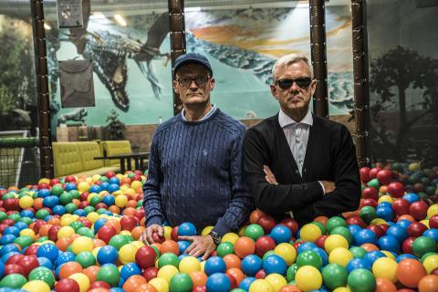 Frank Hvam og Casper Christensen, first still fra KLOVN THE FINAL. Foto af Per Arnesen