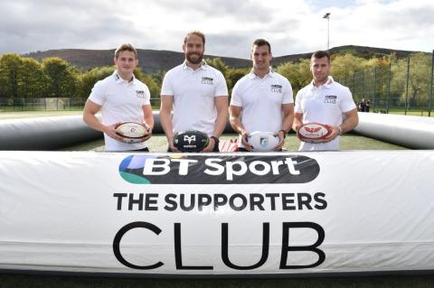 BT Supporters Club launch 'Tackle' in Wales