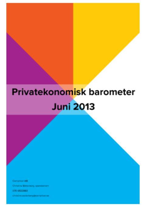 Privatekonomisk barometer juni