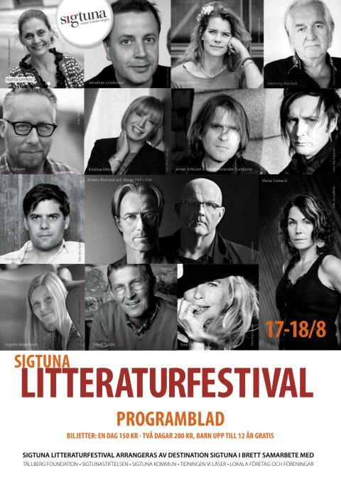 Sigtuna Litteraturfestival 2013 - Programblad