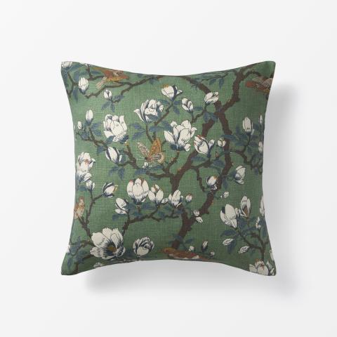 Svenskt_Tenn_Cushion_Japanese_Magnolia_Linen_Green_50x50cm_1