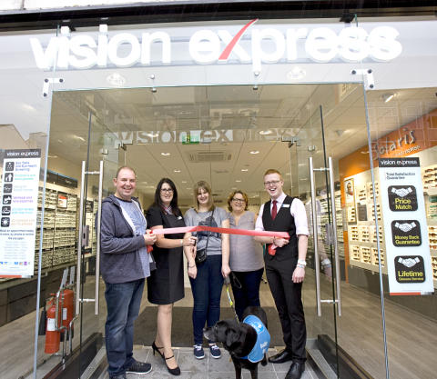 Cheltenham eye cancer teen helps Vision Express unveil new High Street store