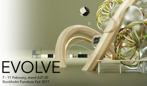 "EFG ställer ut på Stockholm Furniture Fair under temat ""EVOLVE"""