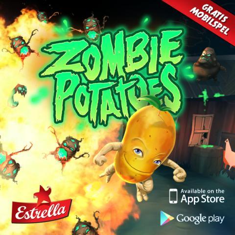 Ett helt ny värld lanseras i Estrellas nya version av mobilspelet Zombie Potatoes