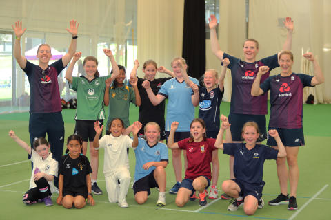 DREAMS COME TRUE AS 'HEATHER'S PRIDE' WINNERS TRAIN WITH ENGLAND CRICKET TEAM