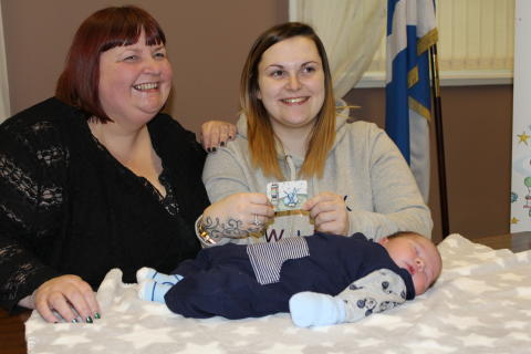 Jane Sandell, Harry and mum Amy Coull