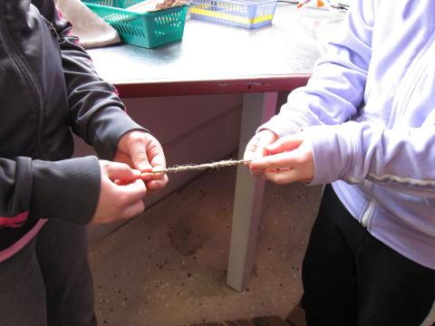 Falu Gruva förvandlas till skolbarnens slöjdsal