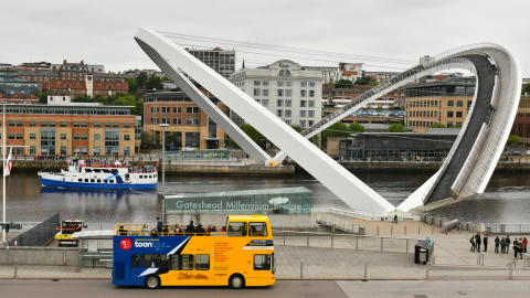 NewcastleGateshead Toon Tour at Gateshead Millennium Bridge