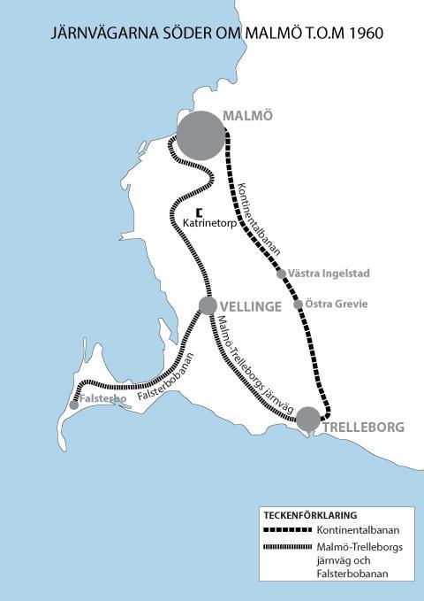 Järnvägarna söder om Malmö t.o.m. 1960