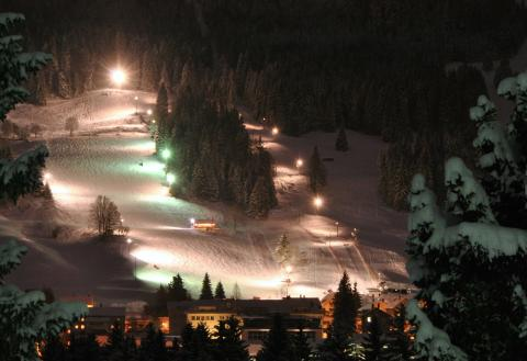 Night skiing in L'Orient © Nicolas Jan