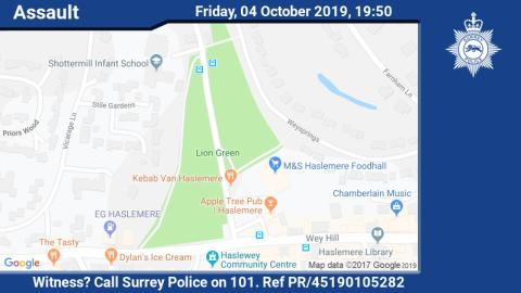 Witness appeal following assault at a funfair in Haslemere