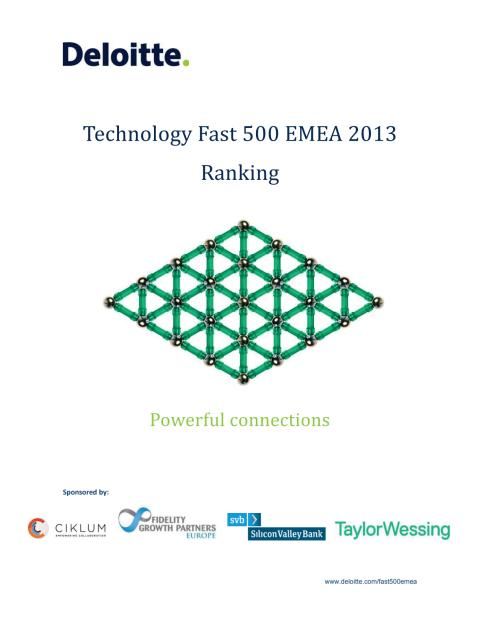 Technology Fast 500 EMEA 2013 Ranking