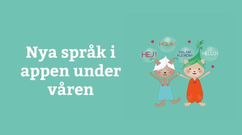 Polyglutt utökar med fem nya språk under våren