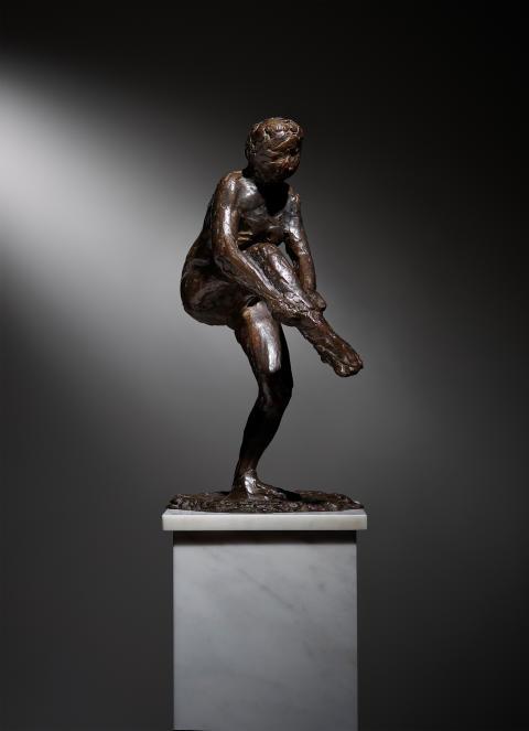 Edgar Degas Danseuse mettant son bas (première étude)