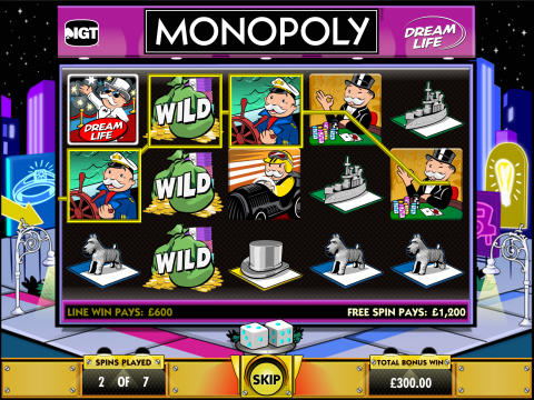 Monopoly Dream Life slot at Vera&John