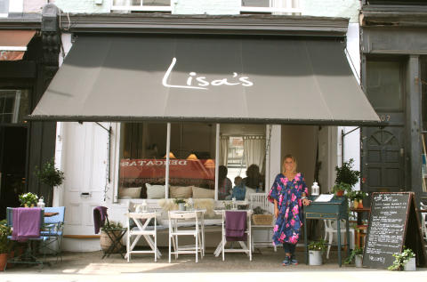 Exteriour at Lisa's, a new Swedish bar and resturant in London's Notting Hill