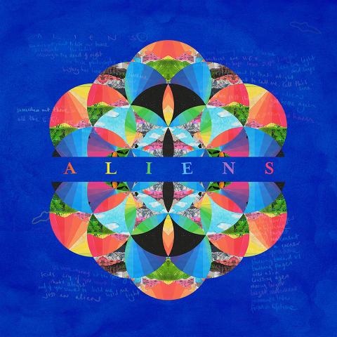 Coldplay - A L I E NS artwork
