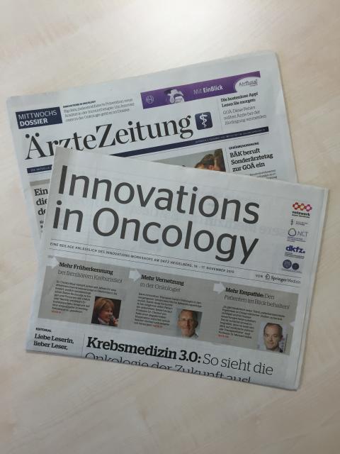 Heutige Sonderbeilage in der Ärztezeitung: Innovations in Oncology